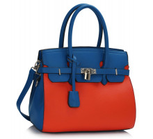 Kabelka Blue / Orange Padlock Tote