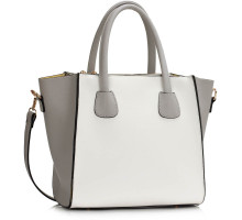 Kabelka Grey / White Horse Fashion Tote Bag