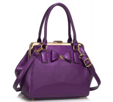 Kabelka Purple Bow Framed Satchel