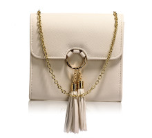 Kabelka Nude Flap Clutch Purse With Tassel