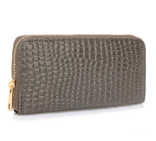 Peněženka Grey Crocodile Pattern Purse - šedá