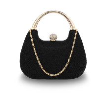 Psaníčko Black Rhinestone Evening Wedding Clutch Bag