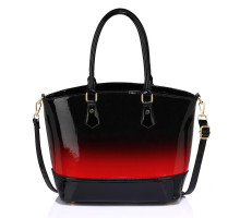 Kabelka Red Patent Two Tone Handbag