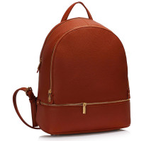 Batoh Brown Backpack Rucksack School Bag