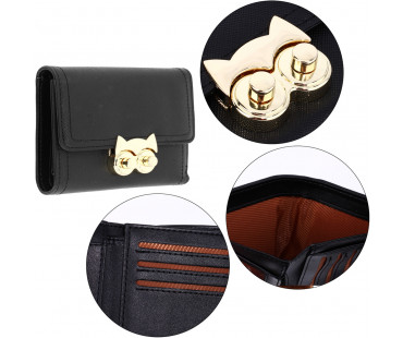 Peněženka Black Purse/Wallet With Gold Metal Work