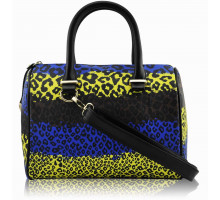 Kabelka Blue Brown Yellow Animal Print Bowling Grab bag