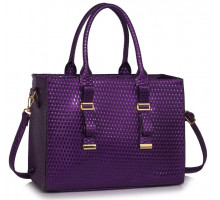 Kabelka Purple Buckle Detail Tote Shoulder Bag