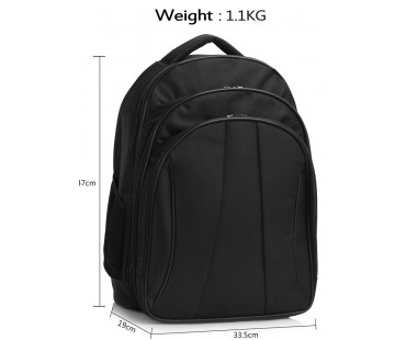Batoh Black Backpack Rucksack School Bag