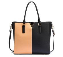 Kabelka Black / Nude Split Design Tote Handbag