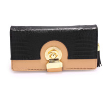 Peněženka Black / Nude Twist Lock Purse/Wallet With Tassel