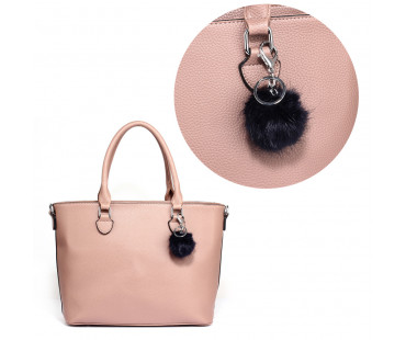 Přívesek na kabelku Navy Fluffy Fur Bag Charms