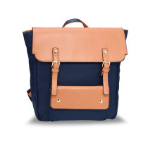 Batoh Navy / Nude Backpack Rucksack School Bag
