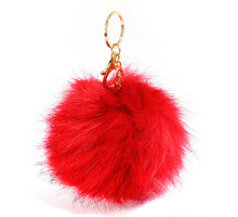 Přívěsek na kabelku Fluffy Fur Red Bag Charms