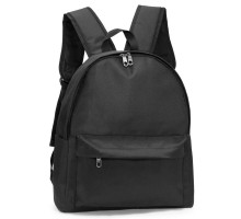 Batoh Black Unisex Backpack School Bag - černý