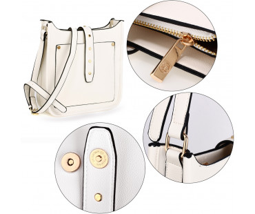 Kabelka White Fashion Cross Body Shoulder Bag - bílá