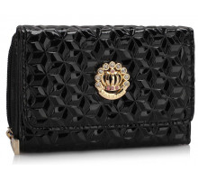 Peněženka Black Purse/Wallet with Crown Decoration