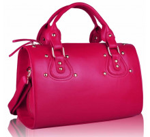 Kabelka Pink Studded Fashion Satchel Handbag