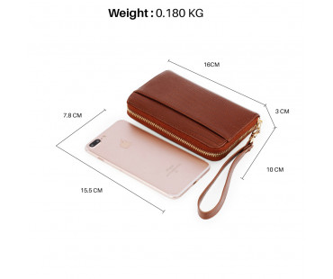 Peněženka Brown Zip Round Purse / Wallet