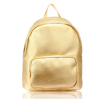 Batoh Gold Backpack School Bag - zlatý
