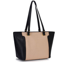 Kabelka Black /Nude Grab Shoulder Handbag