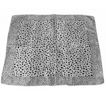 Šátek Black Square Animal Print Womens Scarf