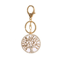 Přívěsek Gold Metal Crystal Tree Of Life Bag Charm