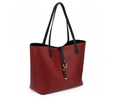 Oboustranná kabelka Black/Burgundy Large Tote Bag