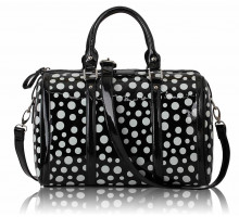 Kabelka Black Polka Dot Tote Bag