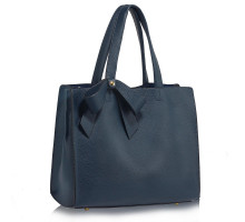 Kabelka Navy Bow-Tie Shoulder Tote Bag