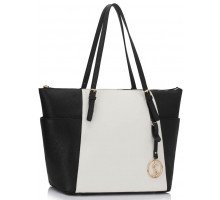 Kabelka Black / White Women's Large Tote Bag