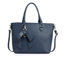 Kabelka Navy Tote Bag With Bow Charm - nám. modrá