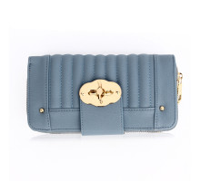 Peněženka Blue Zip Round Twist Lock Purse/Wallet