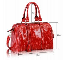 Kabelka Red Medium Barrel Handbag