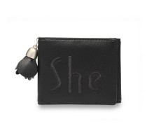 Peněženka Black Trifold Purse / Wallet With Charm
