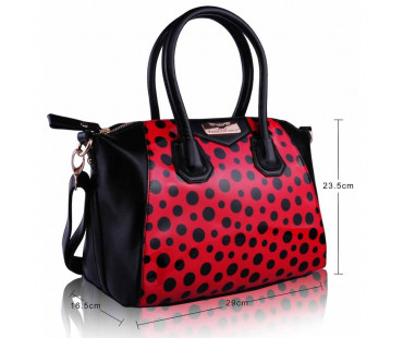 Kabelka Red Polka Dot Satchel Handbag