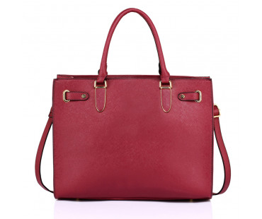 Kabelka Burgundy Women's Large Tote Shoulder Bag