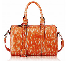Kabelka Orange Medium Barrel Handbag