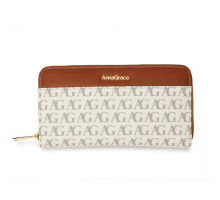 Peněženka White Anna Grace Print Zip Around Purse / Wallet