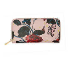 Peněženky Pink Floral Print Zip Around Purse / Wallet