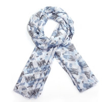 Šátek Stylish Blue Check Print Women's Scarf