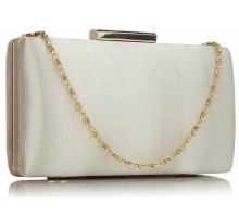 Psaníčko Ivory Satin Clutch Evening Bag