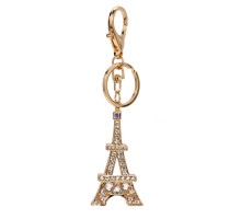 Přívěsek Sparkly Gold Metal Crystal Eiffel Tower Bag Charm