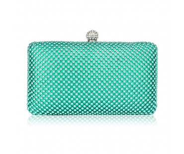 Psaníčko Emerald Crystal Beaded Evening Clutch Bag