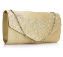 Psaníčko Nude Diamante Flap Clutch purse