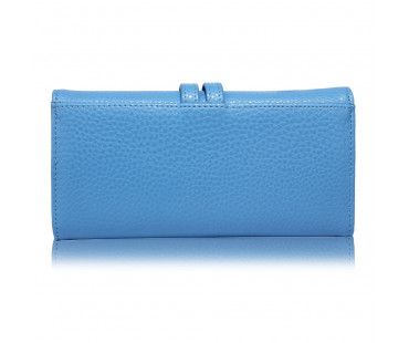 Peněženka Blue Purse/Wallet With Gold Tone Metal