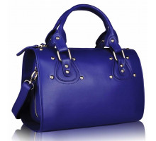 Kabelka Blue Studded Fashion Satchel Handbag - modrá