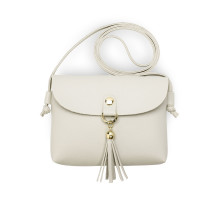 Kabelka Light Grey Flap Cross Body Tassel Shoulder Bag