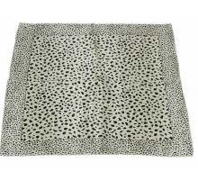 Šátek Beige Square Animal Print Womens Scarf