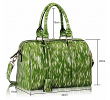 Kabelka Green Medium Barrel Handbag - zelená