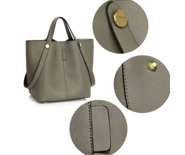 Kabelka Grey Women's Tote Shoulder Bag - šedá